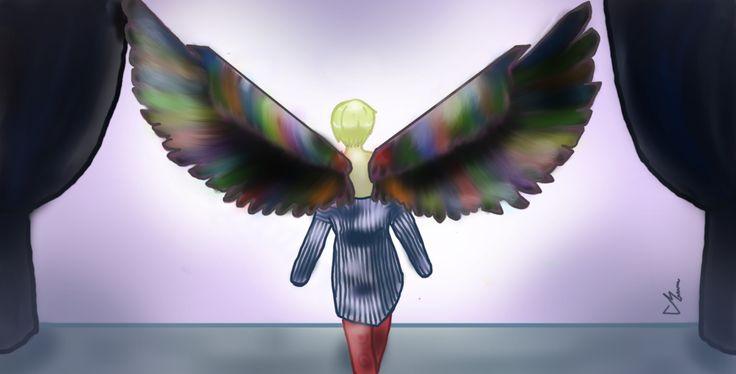 Wings with colour #V #bts #bangtan #fanart #wingstour