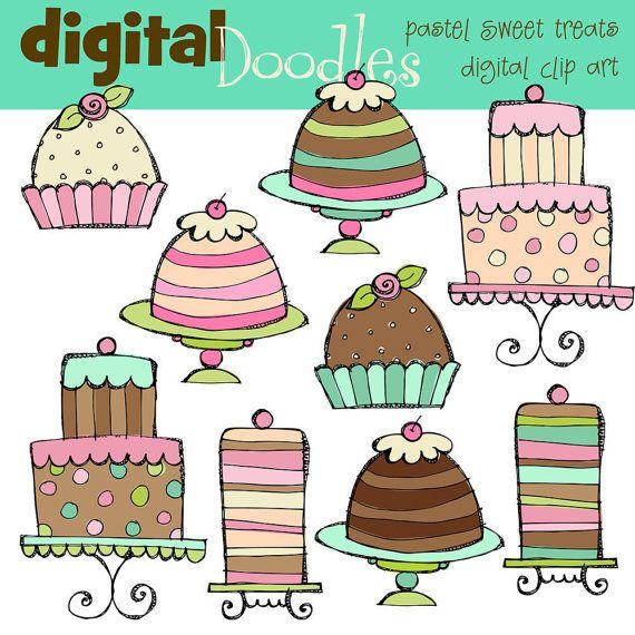 Sweet Treats Digital Clip Art by kpmdoodles on Etsy, $3.50