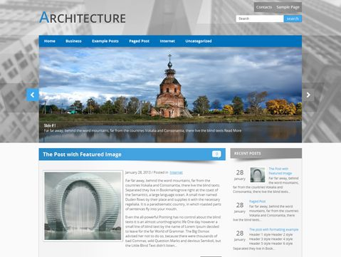 Architecture is excellent choice for those looking for WordPress theme for personal website. It supports and comes with custom widgets, drop-down menus, javascript slideshow and lots of other useful features.