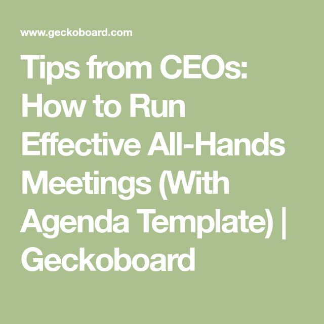Best 25 meeting agenda template ideas on pinterest team meeting tips from ceos how to run effective all hands meetings with agenda template toneelgroepblik Image collections
