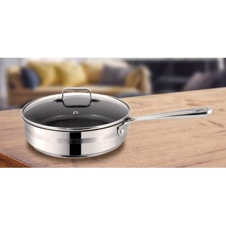 Tefal - Jamie Oliver saute pan, 25 cm  Check it out on: https://tjengo.com/ovn-komfur/372-tefal-sauterpande-25-cm.html?search_query=jamie+oliver&results=14