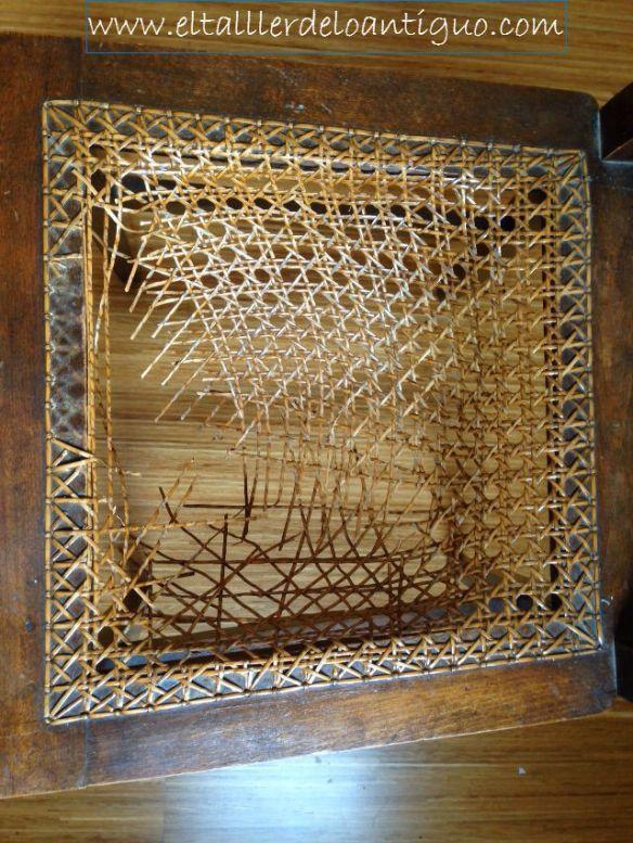 Reparar silla de rejilla buenos d as hoy volvemos de nuevo - Pasta para reparar madera ...