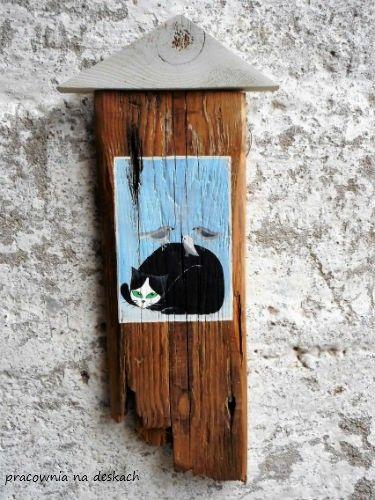 Kot z ptakami dekoracja - Dekoracje - Wnętrze