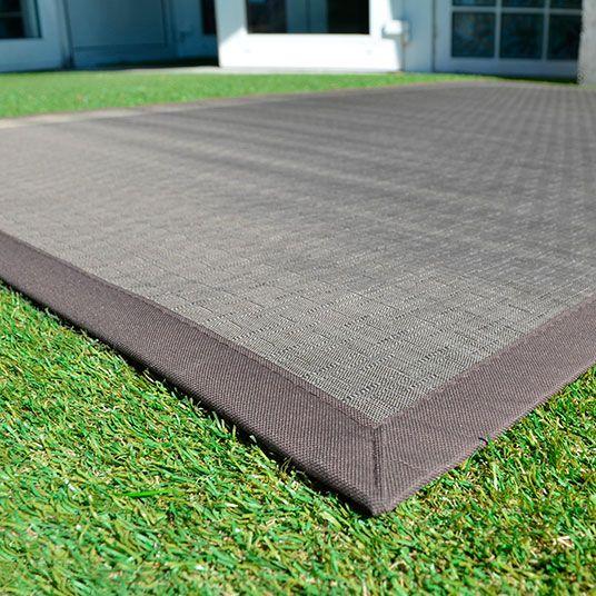 Tapis extérieur PVC tressé - Taupe - 120 x 180 cm