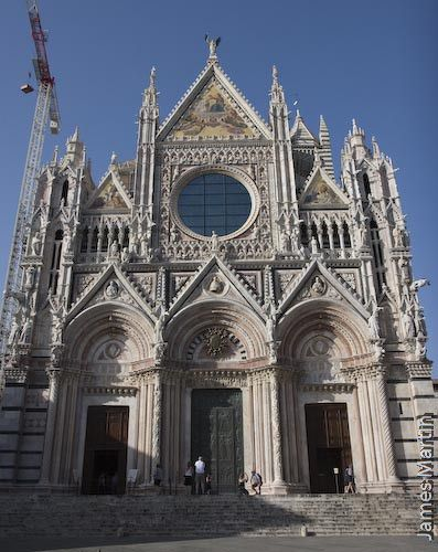 Siena Picture: The facade of the Duomo in Siena, Italy