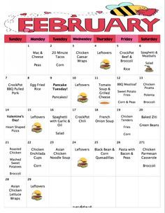 Get In The Groove Of Saving Money On Groceries With February's Budget Meal Plan! A Month of Kid Friendly Dinners for $217.87! - Mom's Bistro
