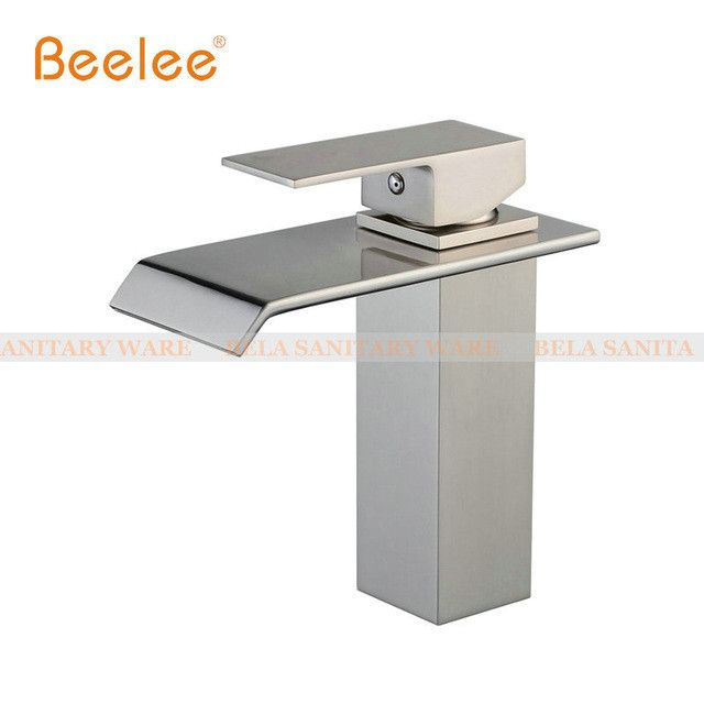 3 Finish Choices Waterfall Faucet Bathroom Basin Mixer Tap with Hot and Cold Water