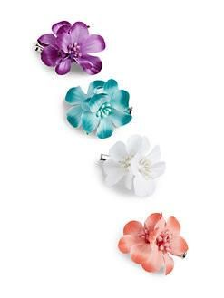 Girl 4 piece flowers hair clip set