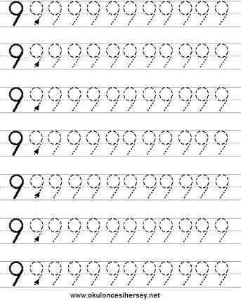 9 rakamı boyama ile ilgili görsel sonucu