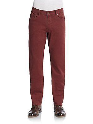 DL1961 Premium Denim Russell Slim-Straight Jeans - Cabot Red - Size 30
