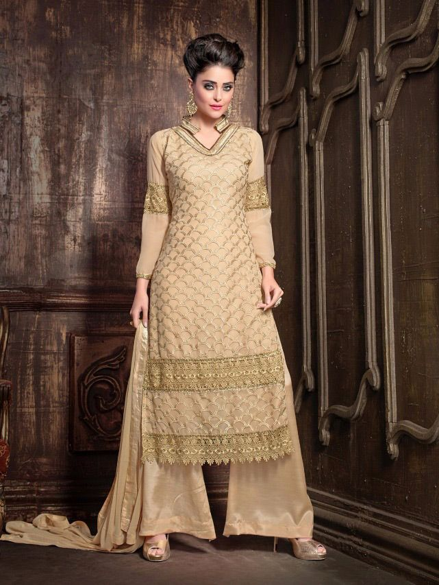 Fresh New Arrival: High Quality #Palazzo Style #Georgette Embroidered #Suits only on Godomart.com: Visit Now: https://goo.gl/Yiuv1G  ✔ Get 10% Discount with coupon code: GOCASHLESS  ✔ 7 days easy returns  ✔ COD Eligible  ✔ Pay with #Amazon, #Paytm, Net banking ✔ #Wordwide shipping  Shop Now: https://goo.gl/Yiuv1G