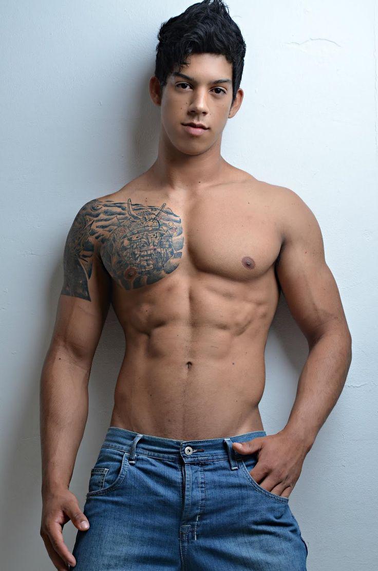 Latino muscle men