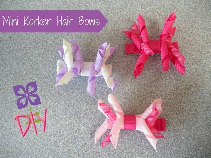 how to make korker hair bows with pictures | DIY How to make Mini Korker Hair Bow Clips