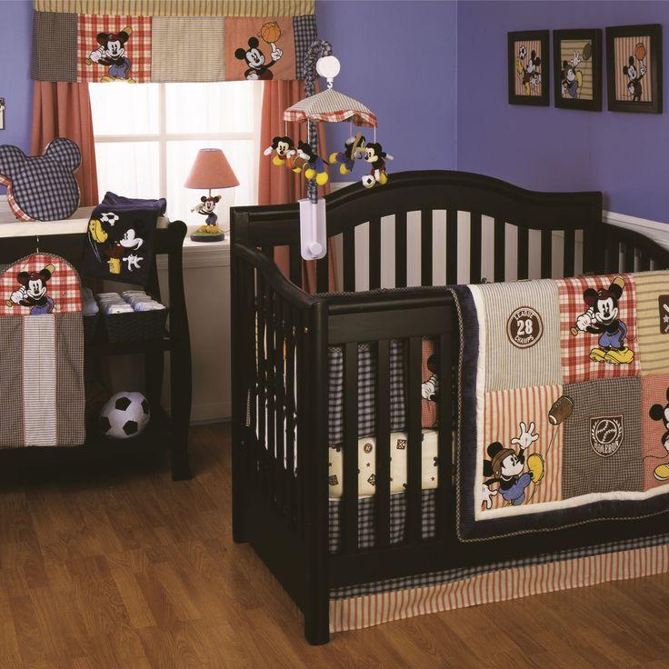 Vintage Mickey 4 Piece Crib Set