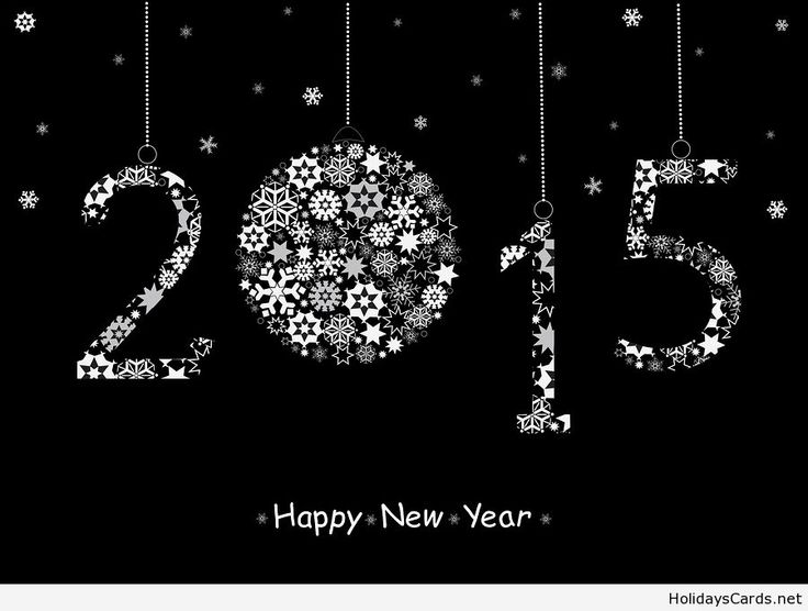 2015 Happy New Year greeting card