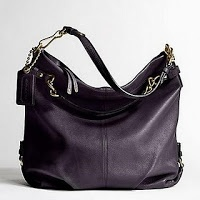 Coach Leather Brooke Shoulder Hobo Bag Purse 14142 Eggplant
