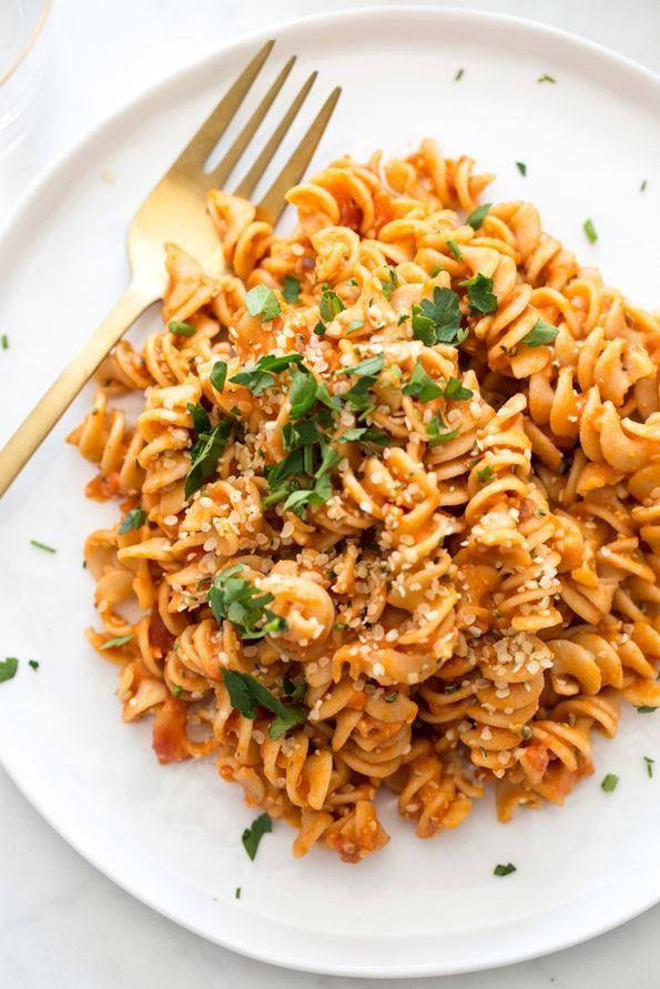 Not only is this pasta fast and delicious, it packs in tons of protein, fibre, and healthy fats. You can also change it up and customize it so many different ways!