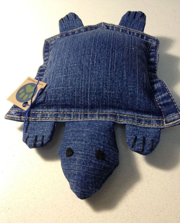 20 insanely creative ways to repurpose your old denim jeans - recycled dog toy from an old jeans pocket