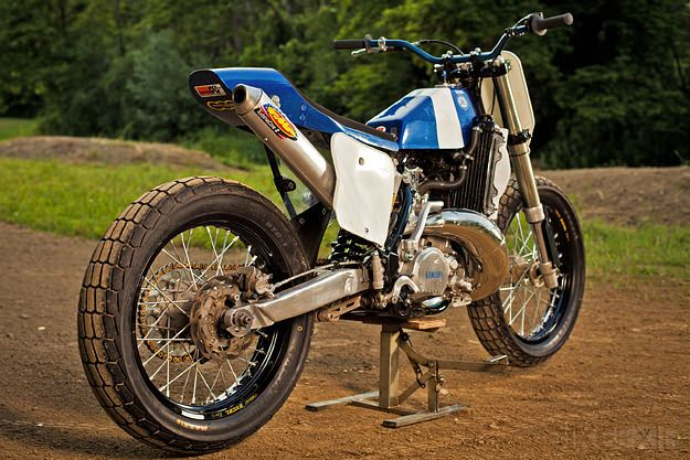 Rad looking flat tracker based on a Yamaha YZ250