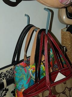 Use bike hooks...found at the hardware store...to hang purses.  Neat, orderly, and clears up valuable closet space - big brown purse, big purses for sale, purse online *sponsored https://www.pinterest.com/purses_handbags/ https://www.pinterest.com/explore/hand-bag/ https://www.pinterest.com/purses_handbags/radley-handbags/ http://www.neimanmarcus.com/Handbags/cat13030735/c.cat