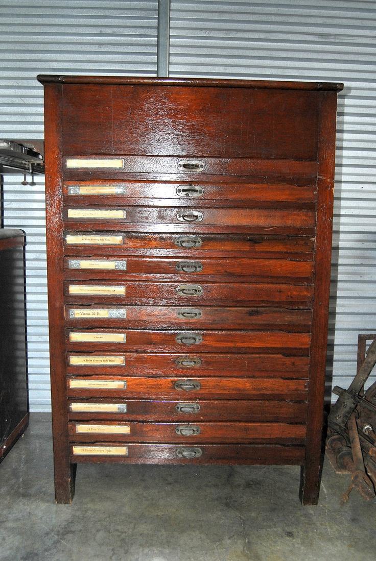 antique letterpress wood type cabinet craft storage. Black Bedroom Furniture Sets. Home Design Ideas