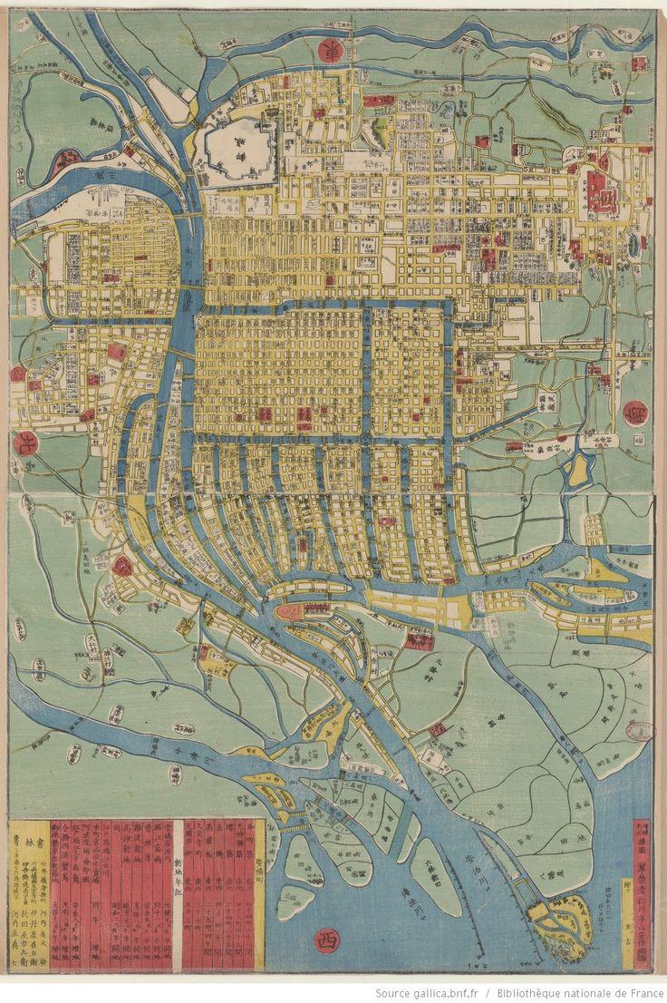 Meiji Kaisei Osaka Saikan Zenzu. [Plan détaillé revisé de la ville d'osaka à l'ère meiji / gravé par Sueyoshi. 1 : 12 500 ]