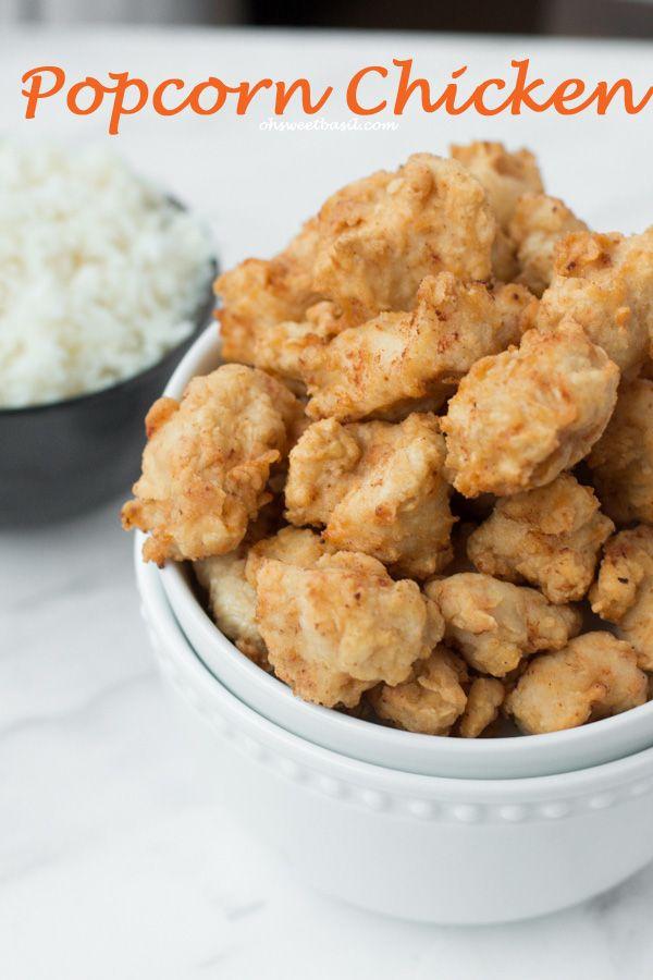 easy popcorn chicken!!! ohsweetbasil.com