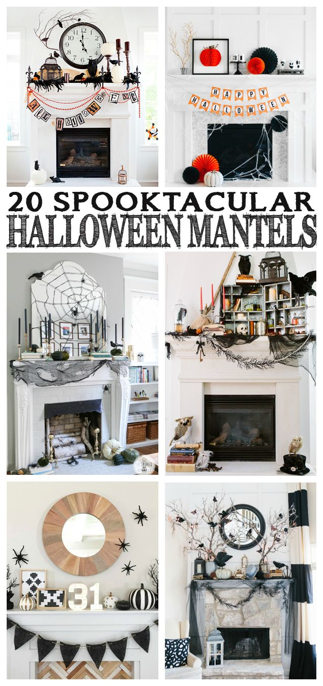20 amazing Halloween Mantels. So much inspiration!