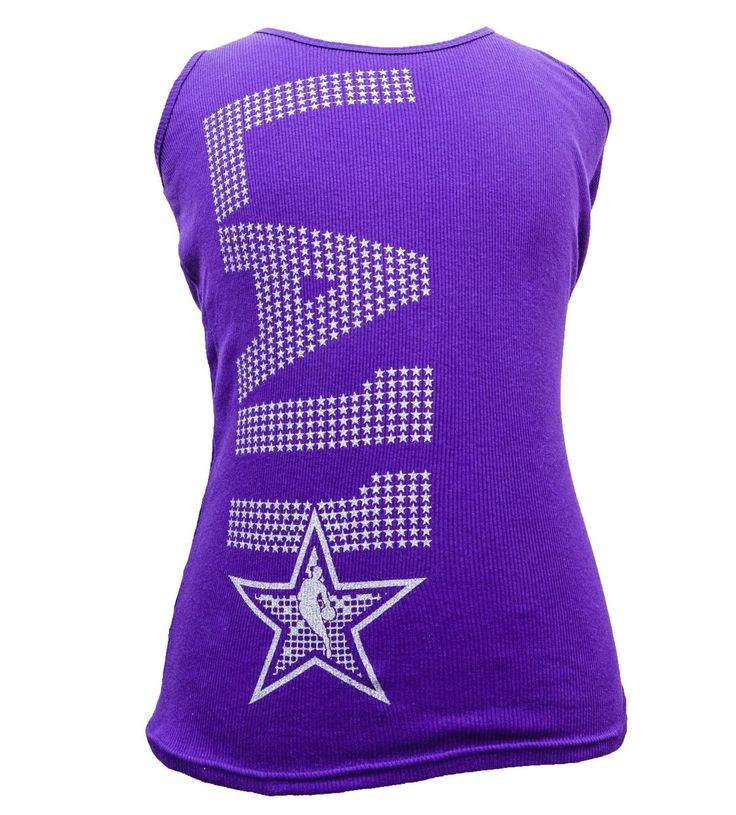 Adidas Official Nba All Star Game Los Angeles Womens Tank Top Purple Cami L4