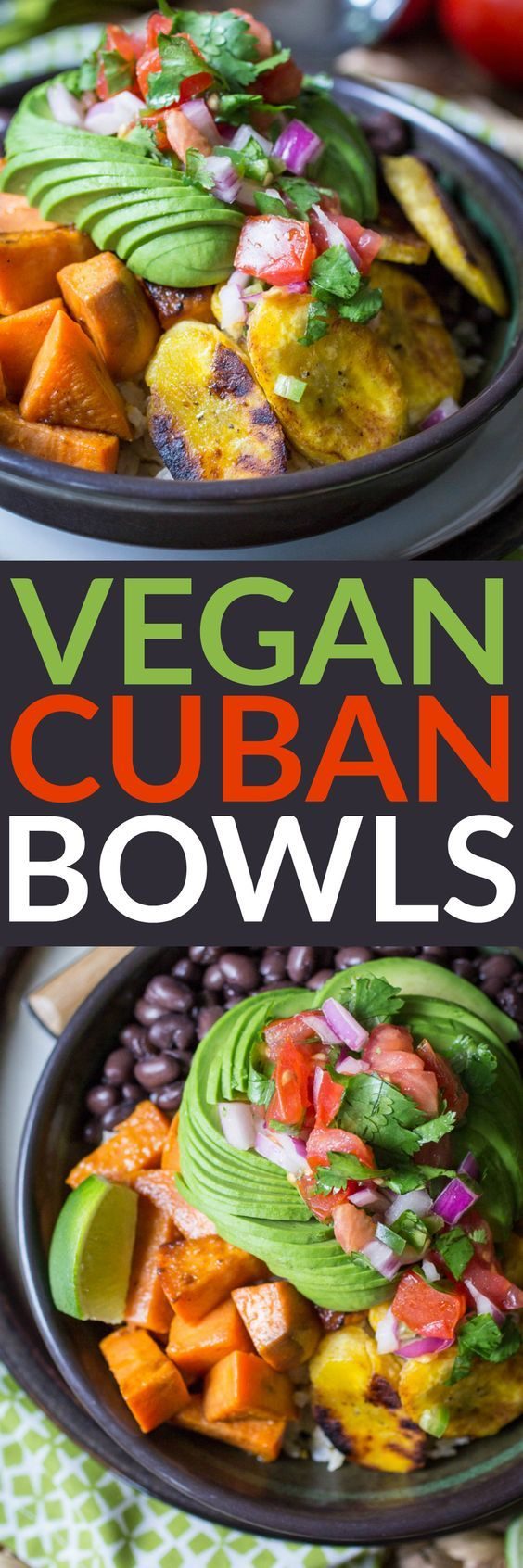 Vegan Cuban Bowls are perfect for Meatless Monday or anytime you're craving a healthy meal.