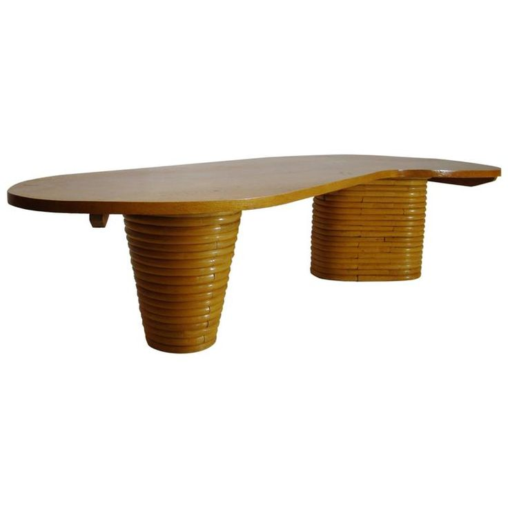 Paul Frankl Style Biomorphic Rattan Coffee Table SATURDAY SALE | From a unique collection of antique and modern coffee and cocktail tables at https://www.1stdibs.com/furniture/tables/coffee-tables-cocktail-tables/