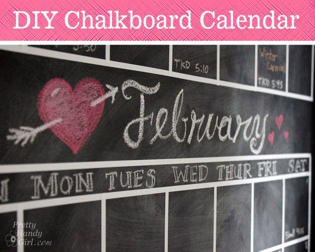 diy chalkboard calendar, chalkboard paint, crafts, painting, wall decor