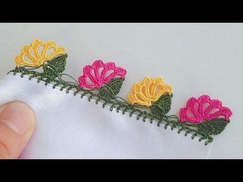 Yaz Çiçekleri Tığ Oyası Yapımı - YouTube