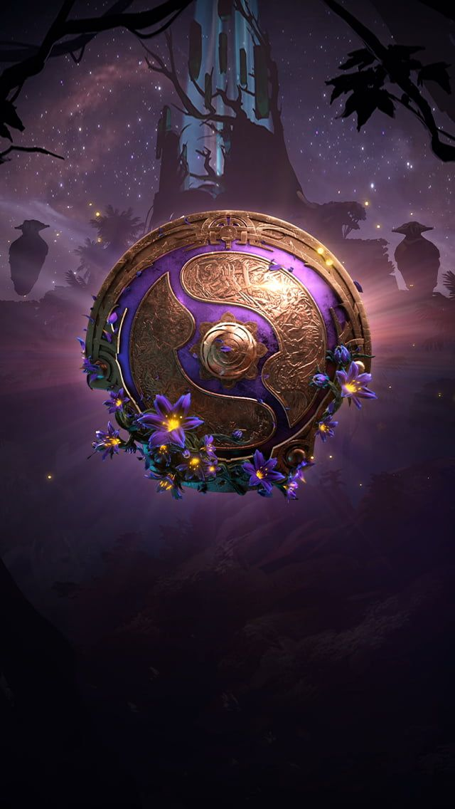 Ti9 Wallpaper For Iphone Users Doesn T Block Clock Wallpaper Ponsel Pahlawan Super Seni Animasi