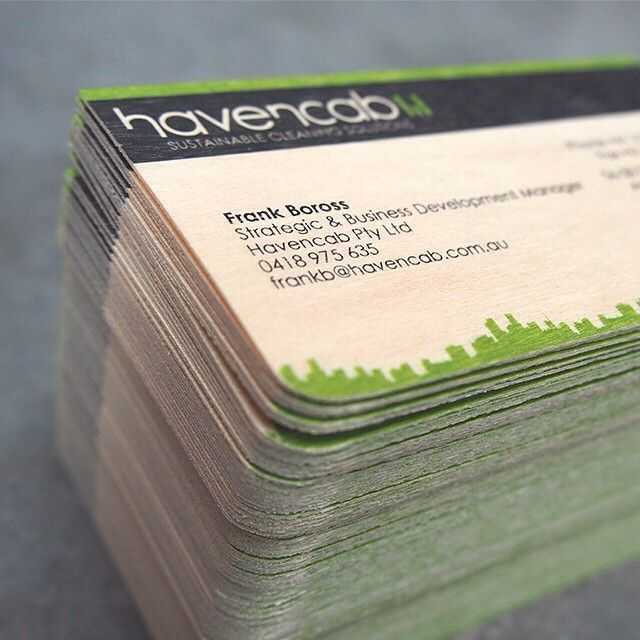 Just finished cutting fresh business cards for Havencab.com.au printed on #birchwood