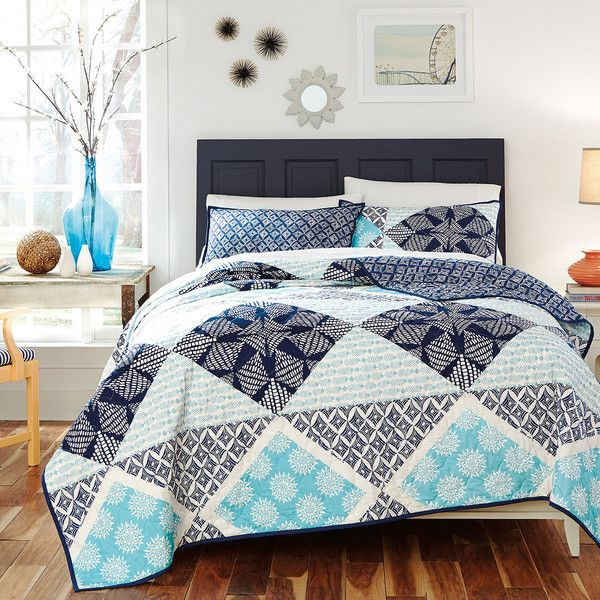 kd spain sedona reversible quilt set 125 liked on polyvore featuring home king size quilt