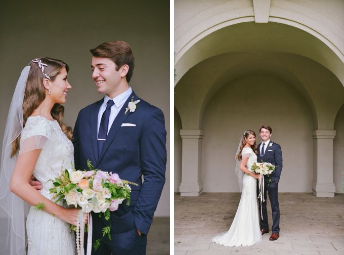Modest Wedding Dress With Vintage Beading And Soft Sleeves Photo By Rebekah Westover