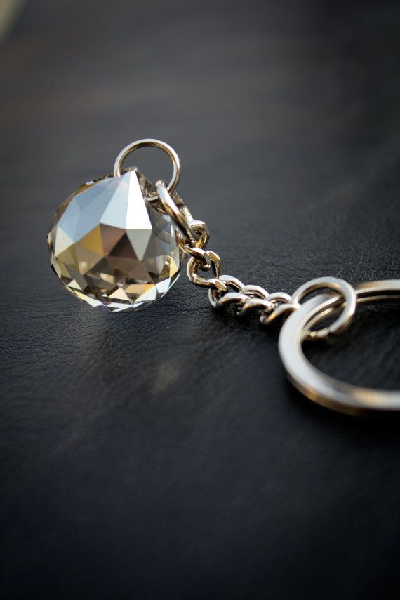 Free Shipping Keyring With Glass Ball by SopisaJewelry on Etsy