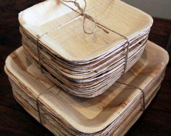 10 x biodegradable plate palm leaf plates party plates