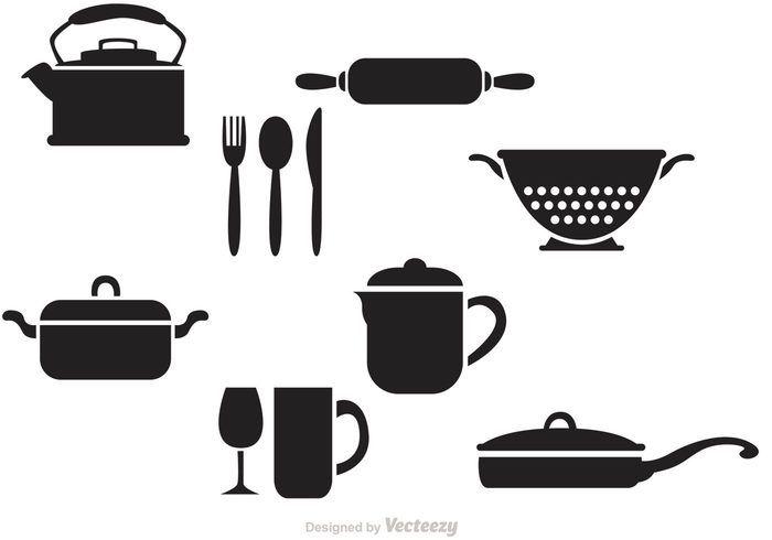 Free vector Black Vintage Kitchen Vectors #18363