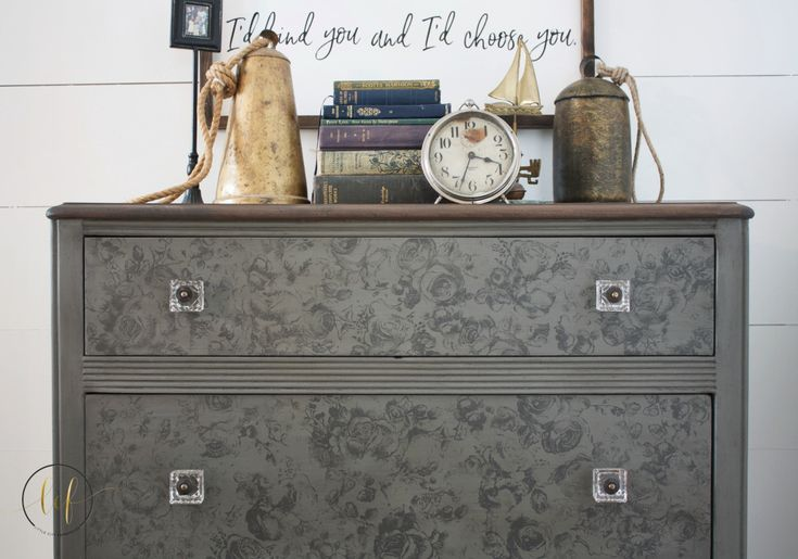 This beautifully restored dresser is ready for the upcoming spring weather thanks to Cait from Little City Farmhouse! She used Cobblestone, Rocky Mountain, and Antiquing Wax to complete the transfo…