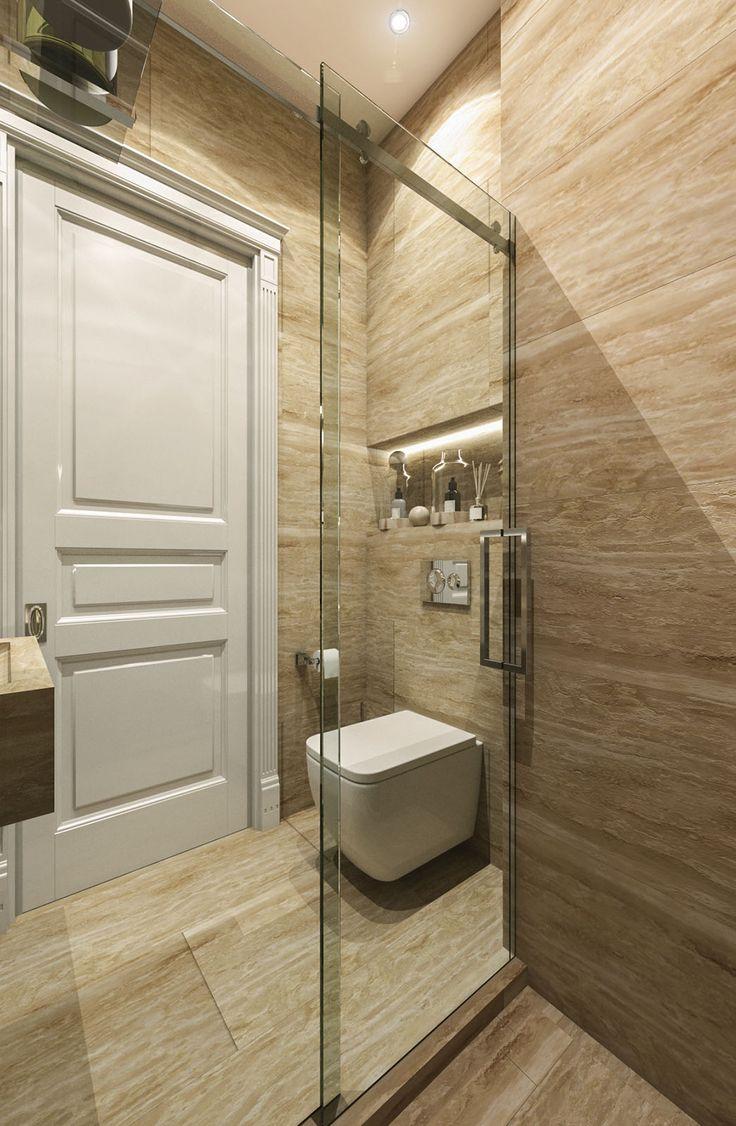 Дизайн апартаментов ЖК Balchug Residence. Гардеробная №2. Вид 1  #аркси #arxy #дизайнинтерьера #элитныйинтерьер #дизайнквартиры #ванная
