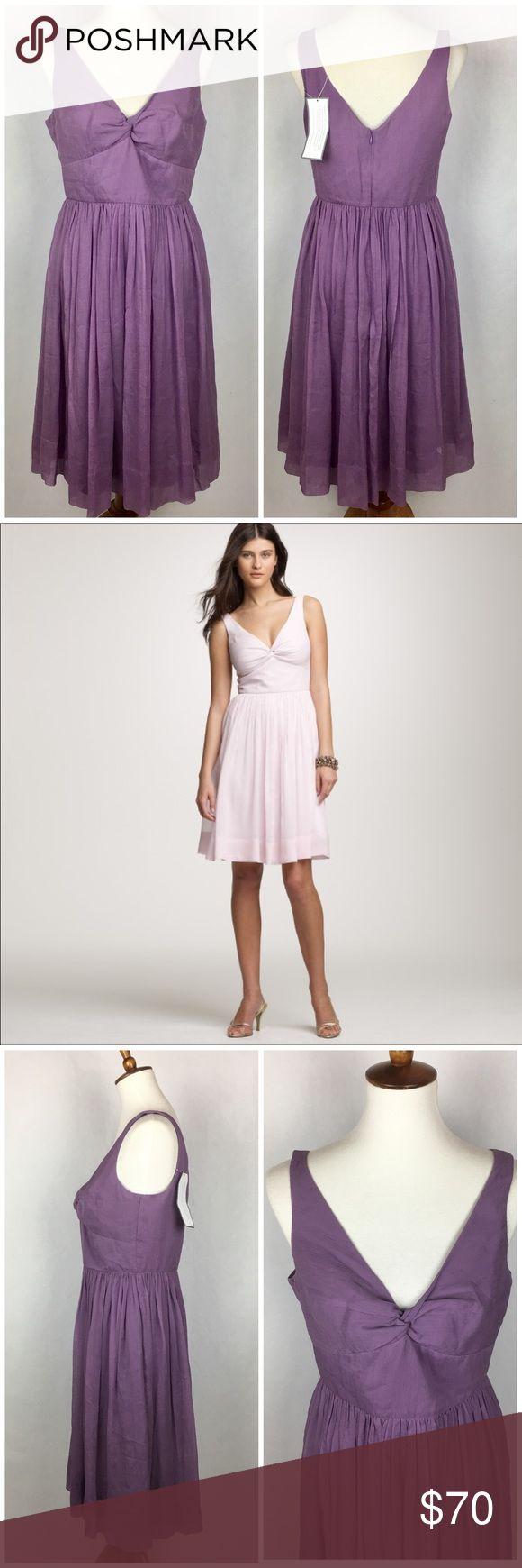 J. Crew Silk Chiffon Twist Tank Dress J. Crew Silk Chiffon Twist Tank Dress   Size 10  100% Silk NWT $170 New with tag  Color code: STH Style # 98999  Beautiful purple wedding dress. J. Crew Dresses Wedding