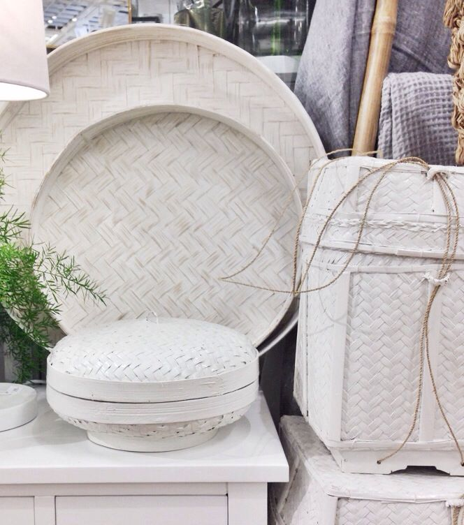 White baskets/boxes from PB home