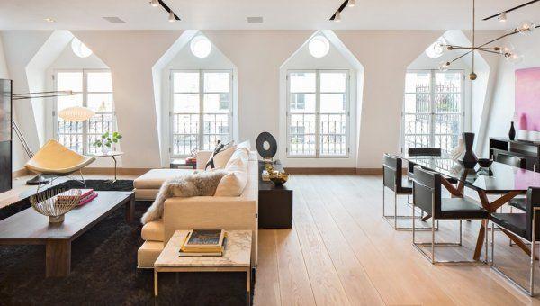 Stanovanje v Tribeci v New Yorku (ZDA) kar najbolje izkorišča vsak pogled.