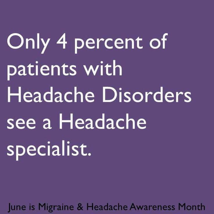 Migraine & Headache Awareness Month 2013 infographic