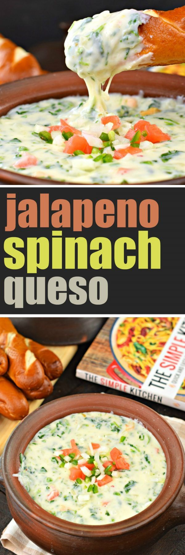 Jalapeno Spinach Queso Dip ~ Shugary Sweets