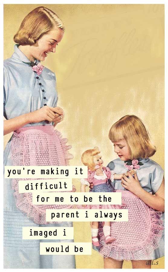 retro funny - parenthood !