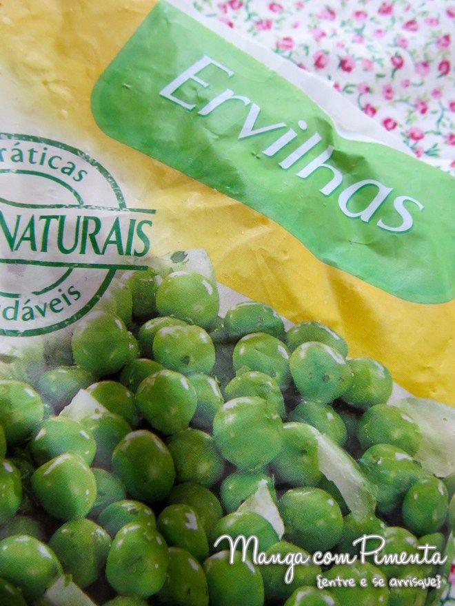 Comprinhas de Supermercado: Ervilhas Congeladas. Clique na imagem para ver a postagem no blog Manga com Pimenta.