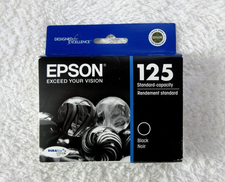 New EPSON Ink Cartridge 125 Black Genuine T125120 Stylus and Workforce #Epson